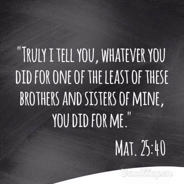 Matthew 25:40